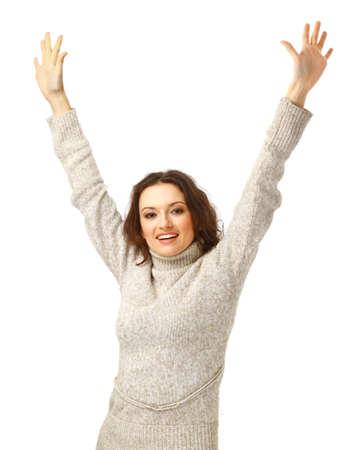 joyous:   Portrait of joyous woman Stock Photo