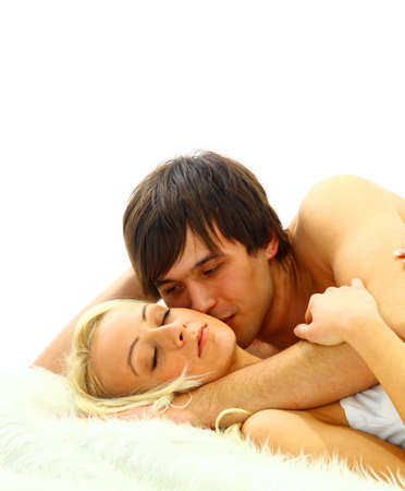 Intimate couple enjoying sexual intercourse on the bed Stock Photo - 11147991