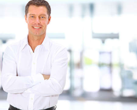 Smiling middle aged business man Stock Photo - 11147948