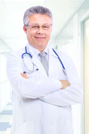 senior handsome man doctor  photo