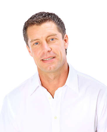 bacground: businessman isolated on white bacground  Stock Photo