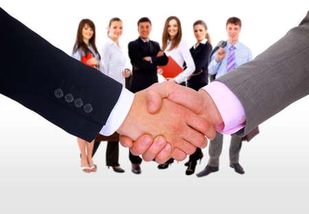 succesful: handshake isolated on white background