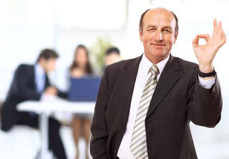 chairman: happy businessman