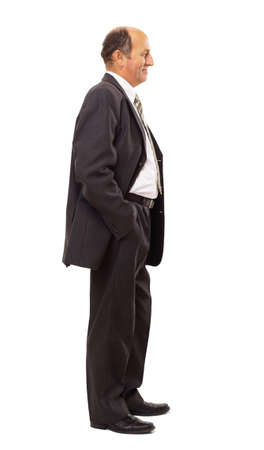 normal: Full length profile of a middle aged business man