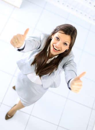 Positive business woman photo