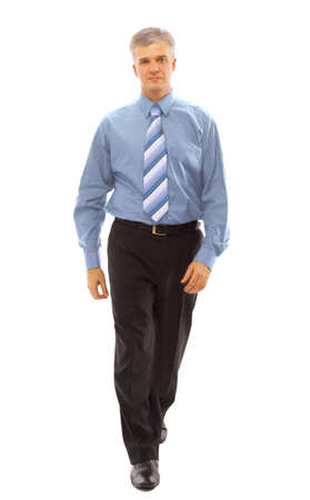 step well: businessman going  Stock Photo