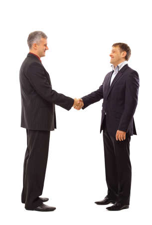 handshake isolated over white background  photo