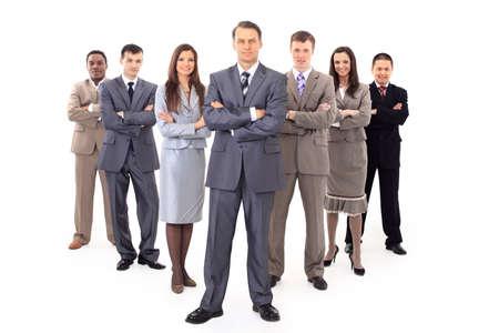 homme d'affaires et son équipe ont isolé sur un fond blanc Banque d'images