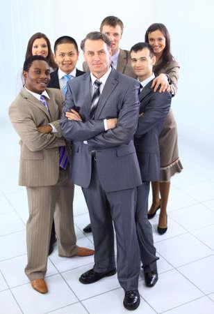 varios adultos étnicos mixtos de negocios corporativos del equipo de la gente Foto de archivo