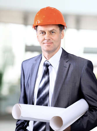 business architect at construction site  photo
