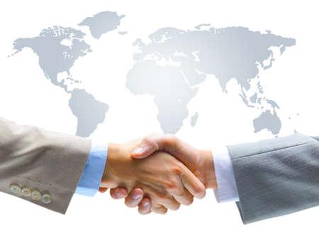 world of work: Agreement handshake