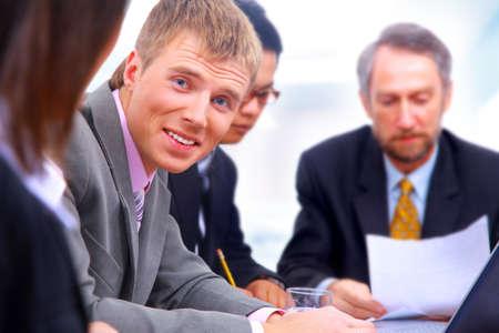 businessteam in offece photo