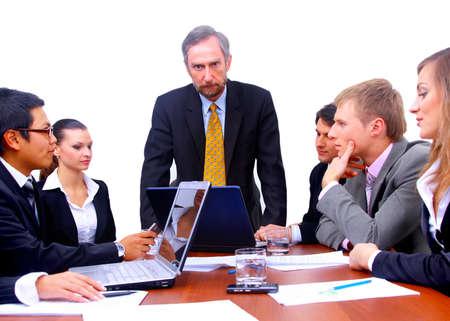 businessteam in offece Stock Photo - 11312216