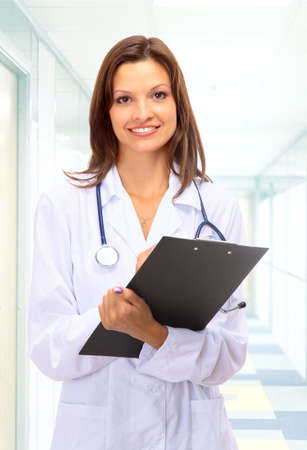 Beautiful young doctor with stethoscope Stock Photo - 11315657