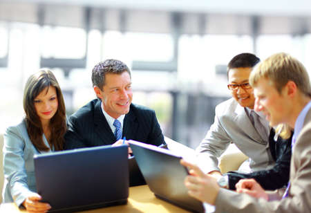 Business meeting -  manager discussing work with his colleagues Stock Photo - 11315689