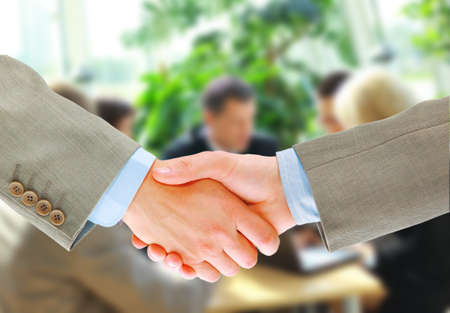 handshake isolated in office Stock Photo - 11315686