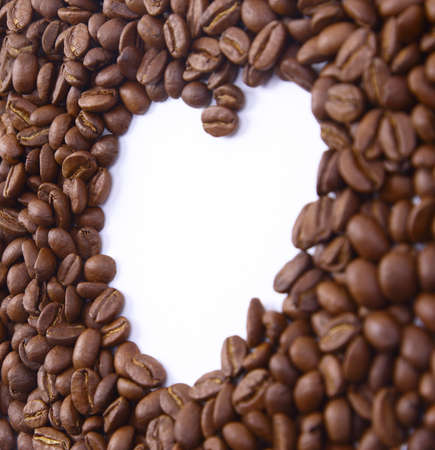 Close up of coffee beans  photo