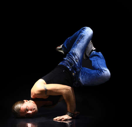 stylish and cool breakdance style dancer posing Stock Photo