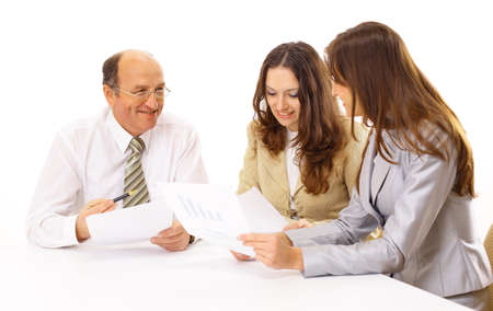 Business group isolated photo