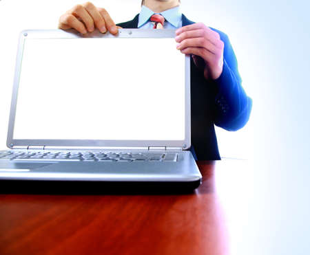 laptop with a blank screen useful for composition Stock Photo - 11315909