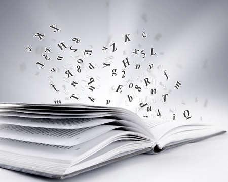 schreiben: offenes Buch