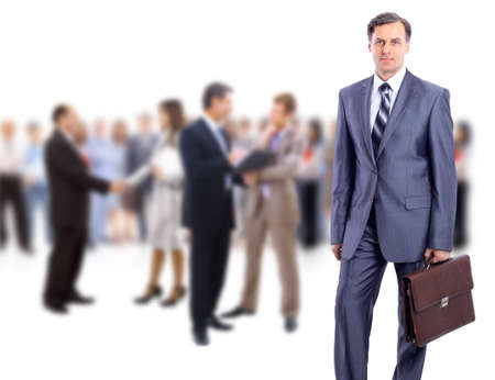 old business man: attractive business people - the elite business team  Stock Photo