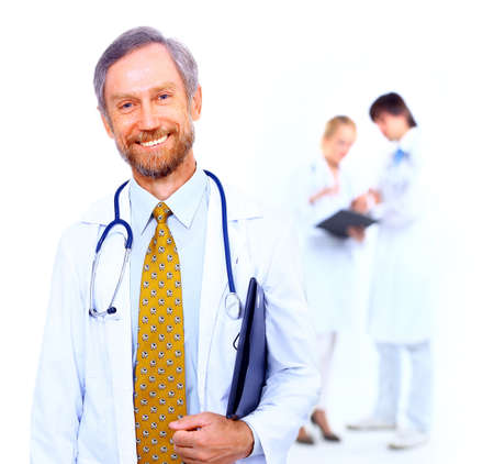 Portrait of doctor and his colleagues  Stock Photo - 11315872
