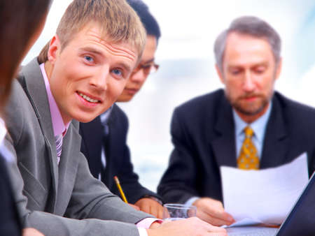 businessteam in offece Stock Photo - 11315572