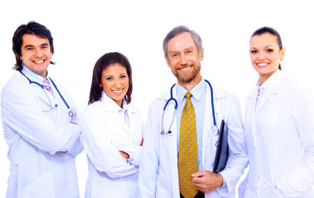 Portrait of group of smiling hospital colleagues standing together Stock Photo - 11315564