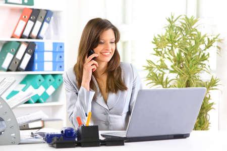 secretaries: young businesswoman portrait   Stock Photo