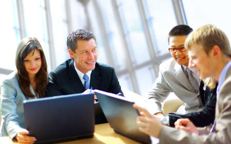 businesspeople in office Stock Photo - 11319761