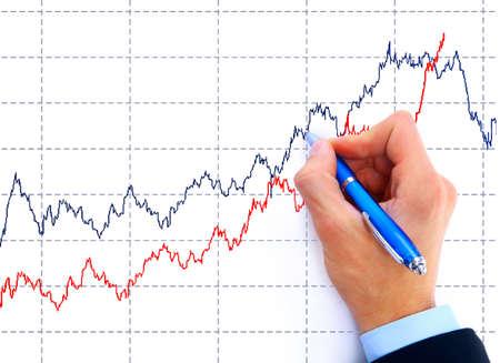 businessman drawing an organization chart on a white board Stock Photo - 11316007