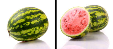 seedless: watermelons isolated on white background Stock Photo