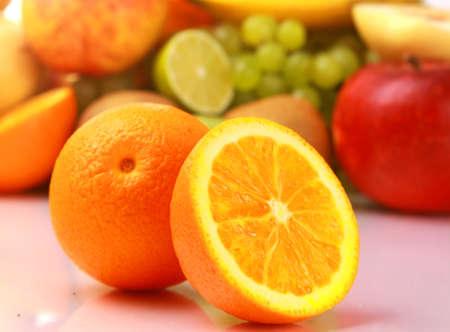 Ripe fresh fruit. Wholesome food. photo