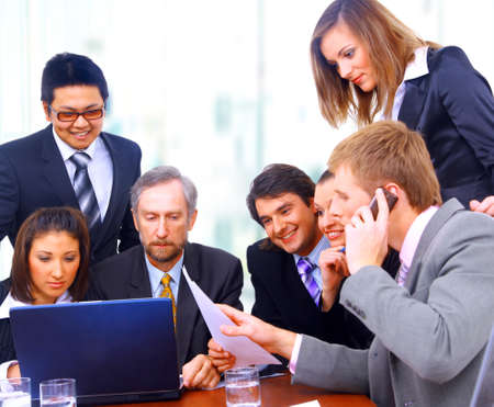 businessteam in offece Stock Photo - 11357063