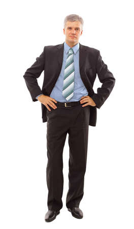handsome old man: Full length portrait of a successful mature business man Stock Photo