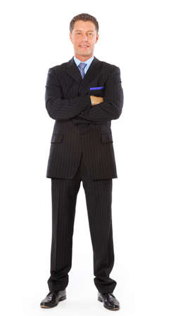 experienced: businessman isolated on white bacground  Stock Photo