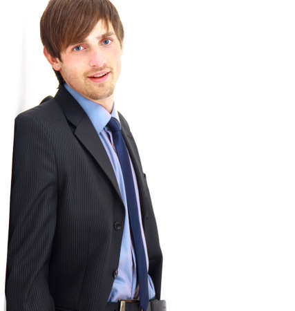 Portrait of a handsome young man in a business suit. photo