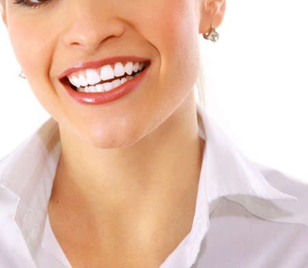 stomatology: Cropped closeup image of young woman laughing