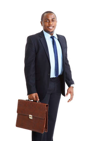 Closeup portrait of a successful African American business man  photo