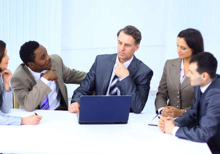 Business people in a work meeting in the office Stock Photo - 11480862