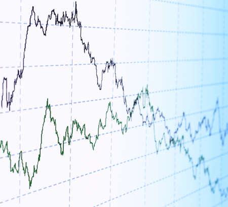 stock market chart: financial graph