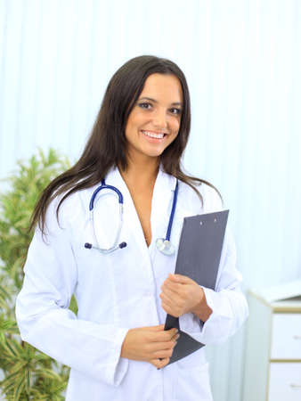 Medical doctor woman in the office  Stock Photo