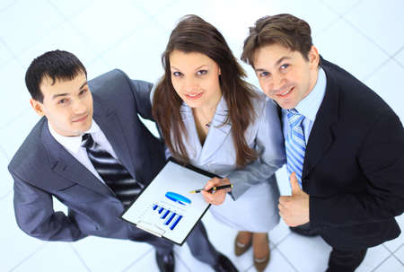 Top view of a group of business people  photo