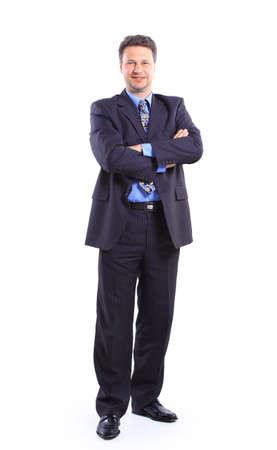 businessman isolated on white bacground  photo