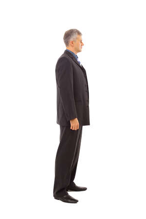 Full length profile of a middle aged business man  photo