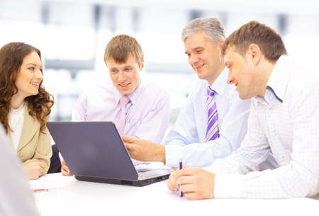 Business meeting - manager discussing work with his colleagues Stock Photo - 11481520