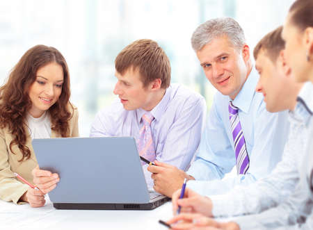 Group of happy business people in a meeting at office Stock Photo - 11481416