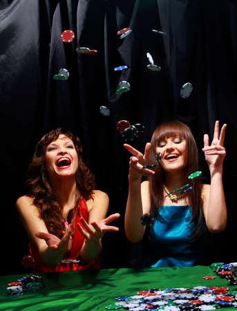 casino dealer: Young people have a good time in casino