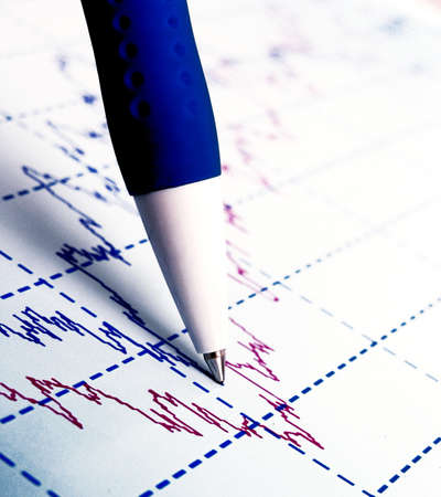 statistical: Stock market graphs and charts Stock Photo